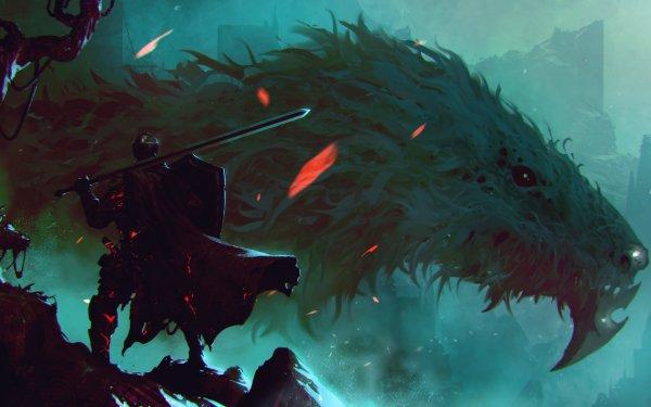 Fantasy Knight Warrior Armor Sword Creature HD Wallpaper   Background Image