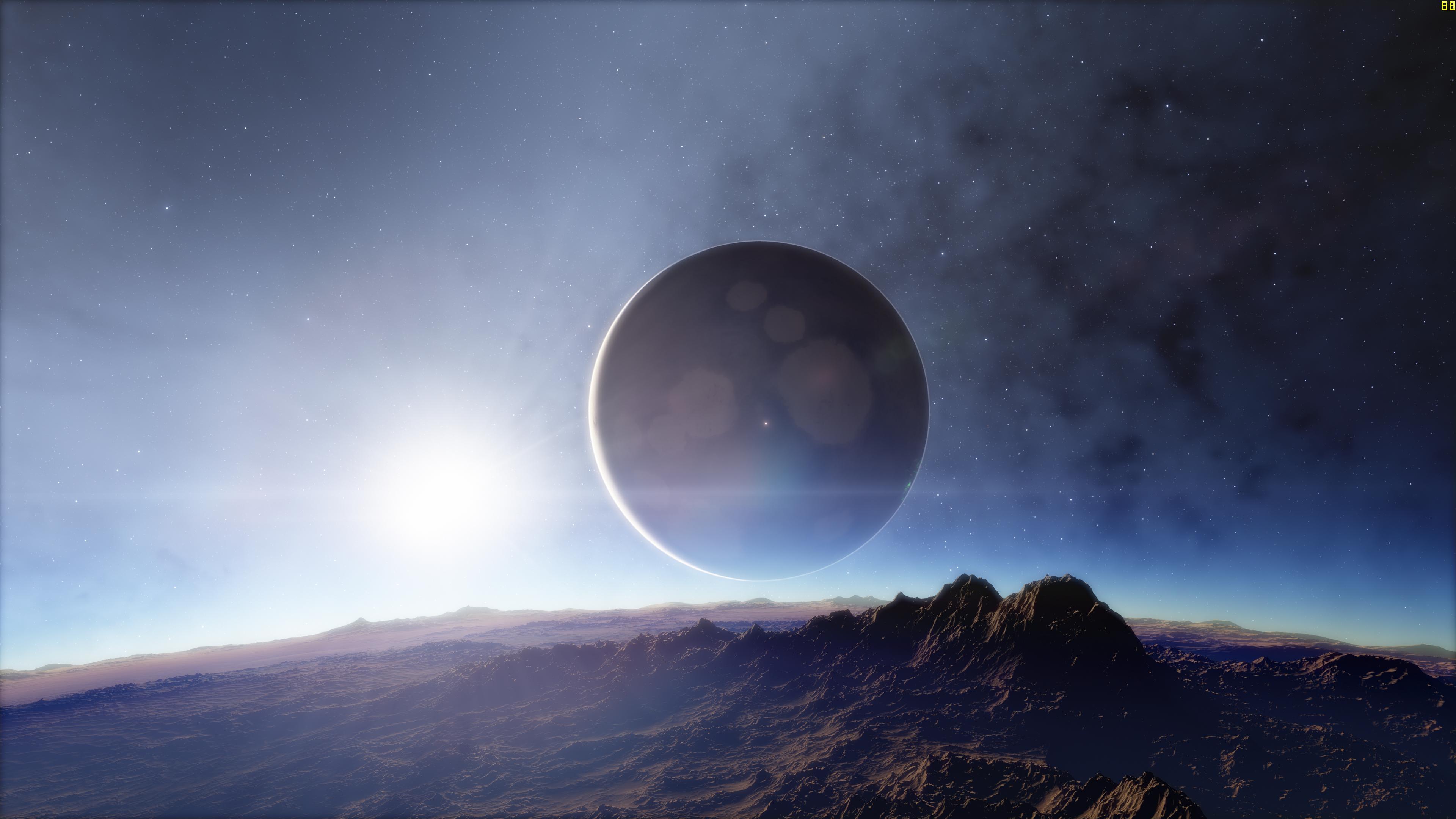 Huge moon orbiting a planet 4k ultra fondo de pantalla hd - Space wallpaper large ...