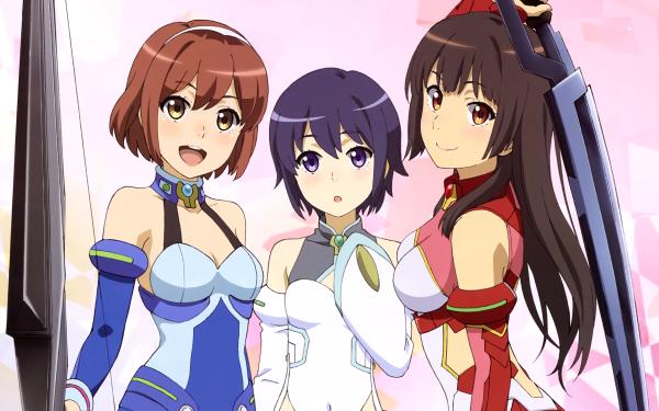 Anime Schoolgirl Strikers HD Wallpaper | Background Image