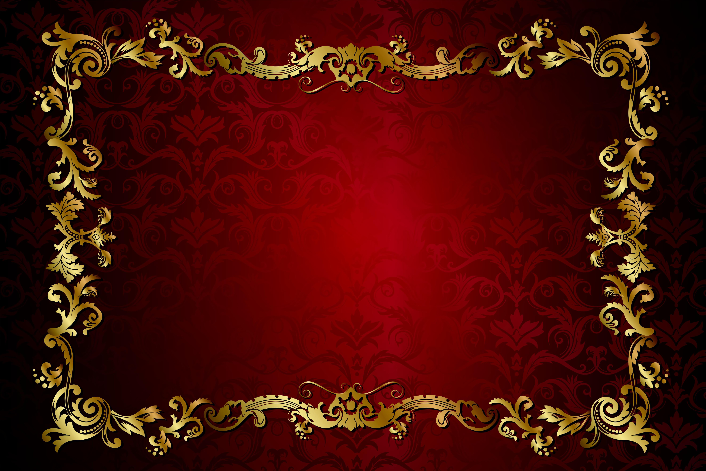 Gold Vintage Border 5k Retina Ultra HD Wallpaper