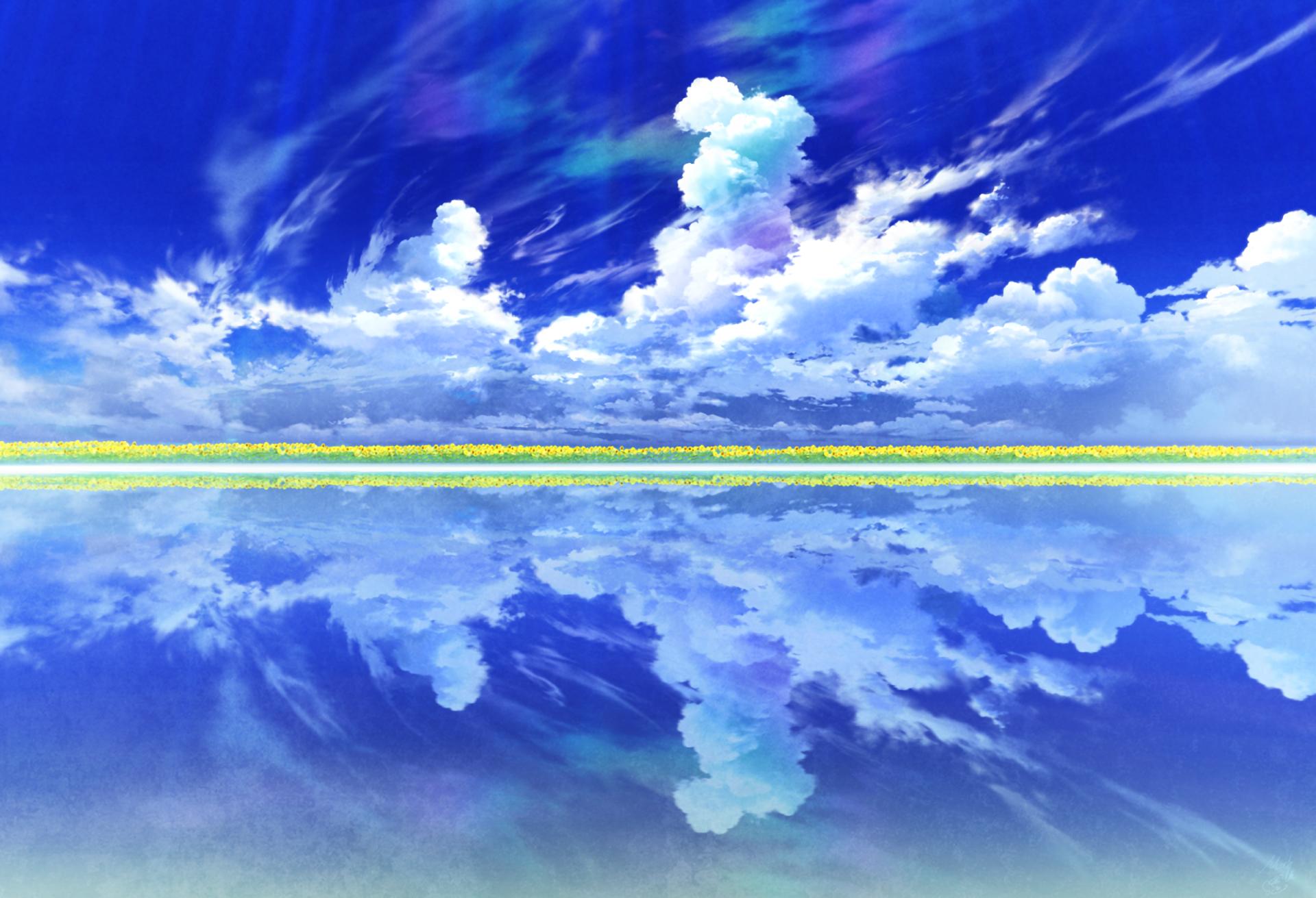 Original hd wallpaper background image 2000x1366 id - Anime sky background ...
