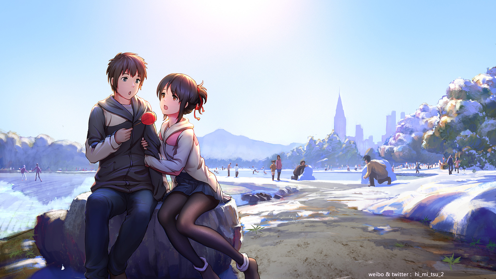 Your Name Hd Wallpaper Background Image 1920x1080 Id 787032