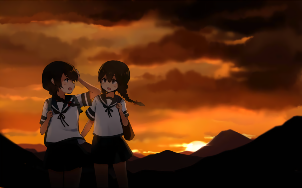 Anime Kantai Collection Isonami Uranami HD Wallpaper | Background Image