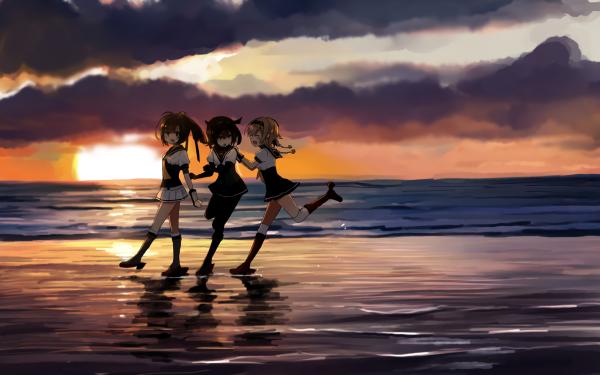 Anime Kantai Collection Akizuki Hatsuzuki Teruzuki HD Wallpaper   Background Image