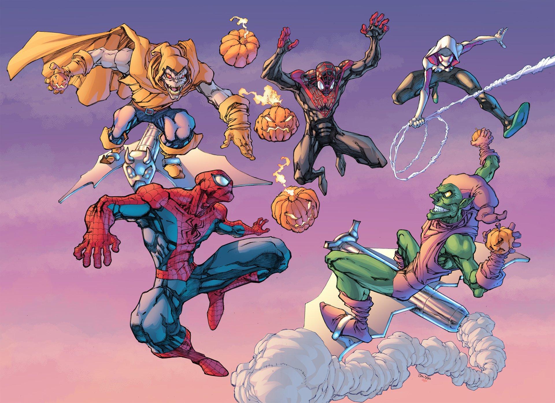 Comics - Marvel Comics  Superior Spider-Man Spider-Man Spider-Gwen Norman Osborn Green Goblin Wallpaper