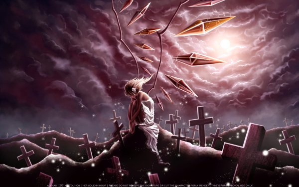 Anime Touhou Flandre Scarlet HD Wallpaper   Background Image