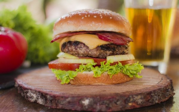 Food Burger Hamburger Lunch HD Wallpaper | Background Image