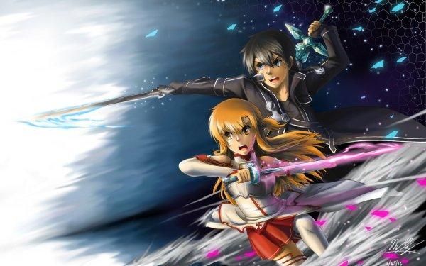 Anime Sword Art Online Kazuto Kirigaya Kirito Fond d'écran HD | Image
