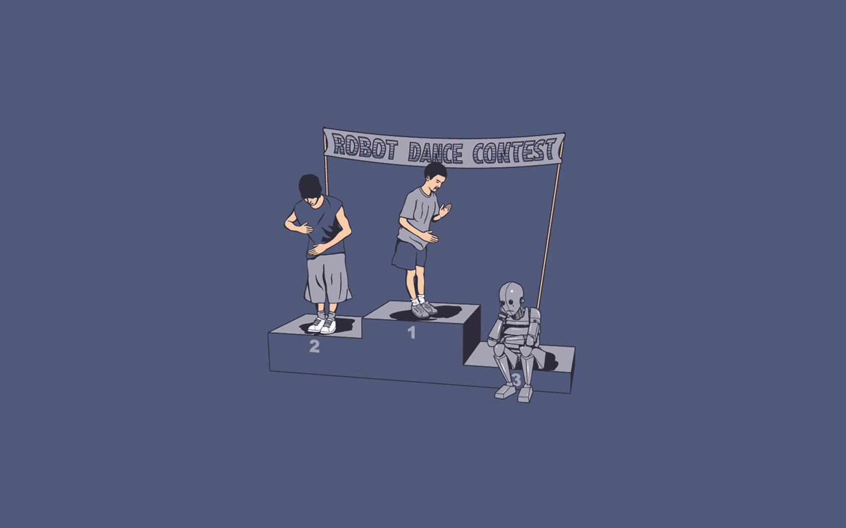 Humor - Funny  Dance Robot Wallpaper