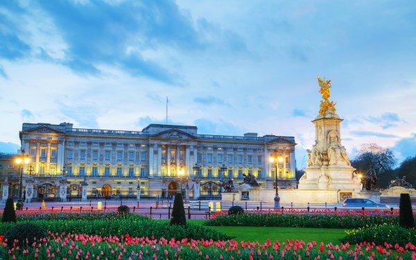 Man Made Buckingham Palace Palaces United Kingdom Building London Statue Tulip Flower HD Wallpaper | Background Image