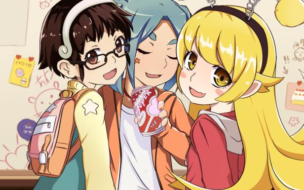 Anime Monogatari (Series) Shinobu Oshino Mayoi Hachikuji Yotsugi Ononoki HD Wallpaper   Background Image