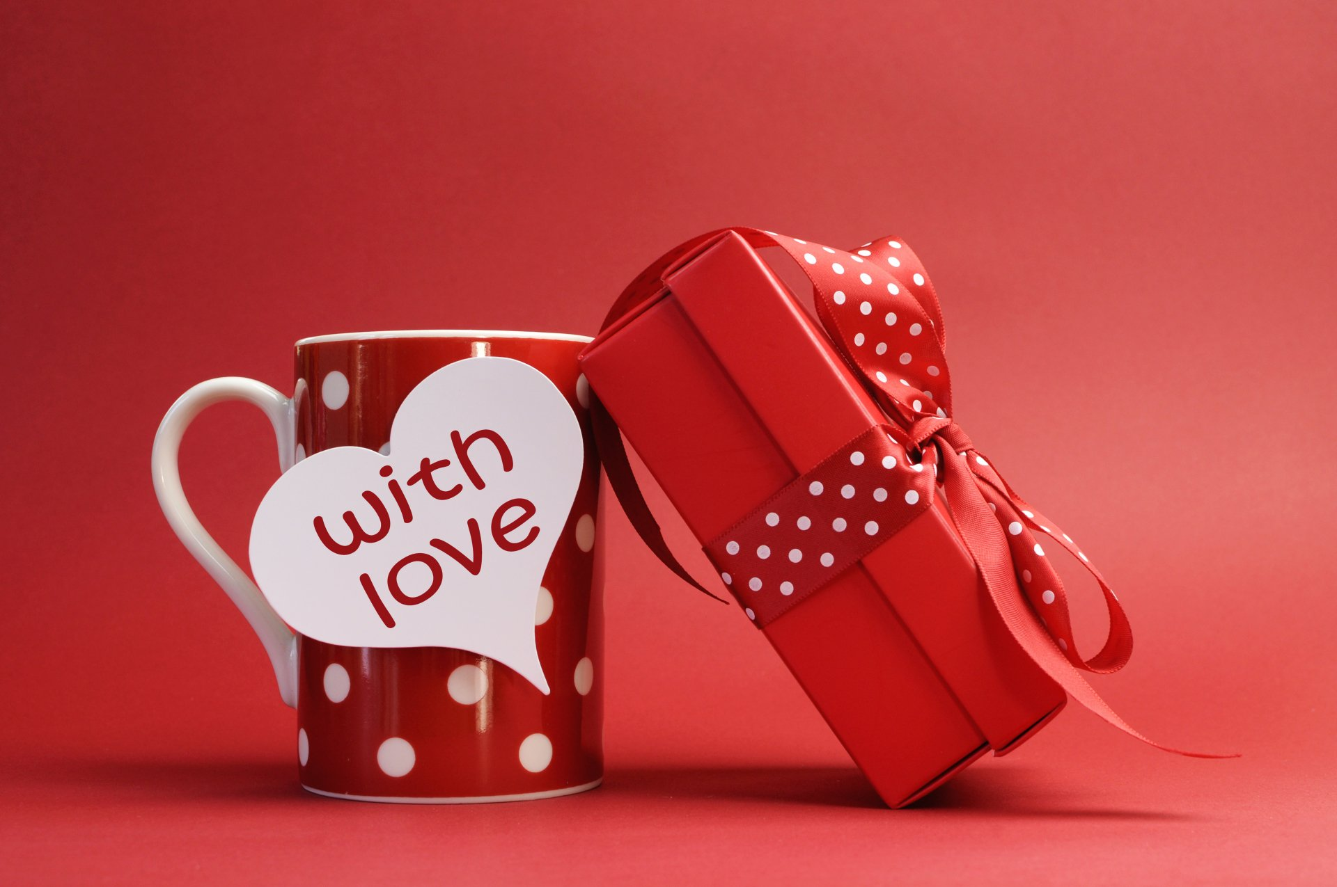 Holiday - Valentine's Day  Cup Gift Red Wallpaper