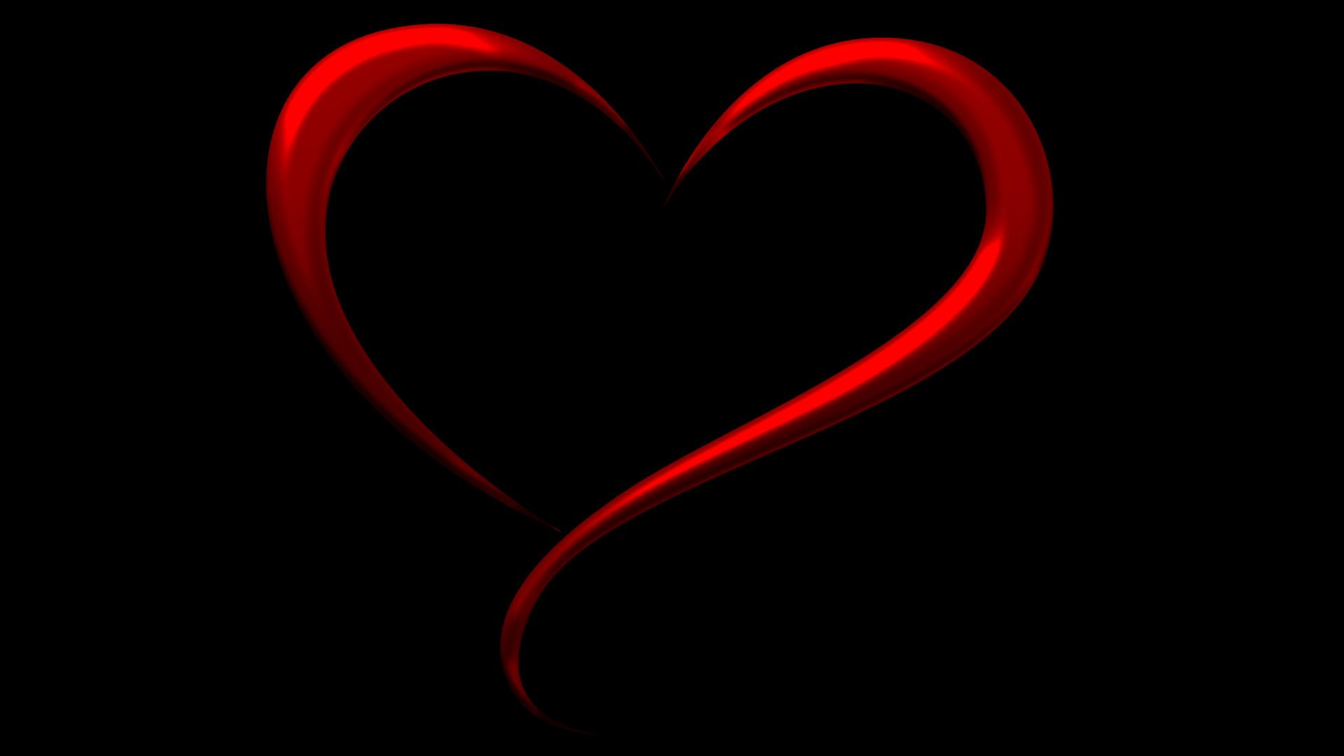 Simple Red Heart Background Fond D'écran HD