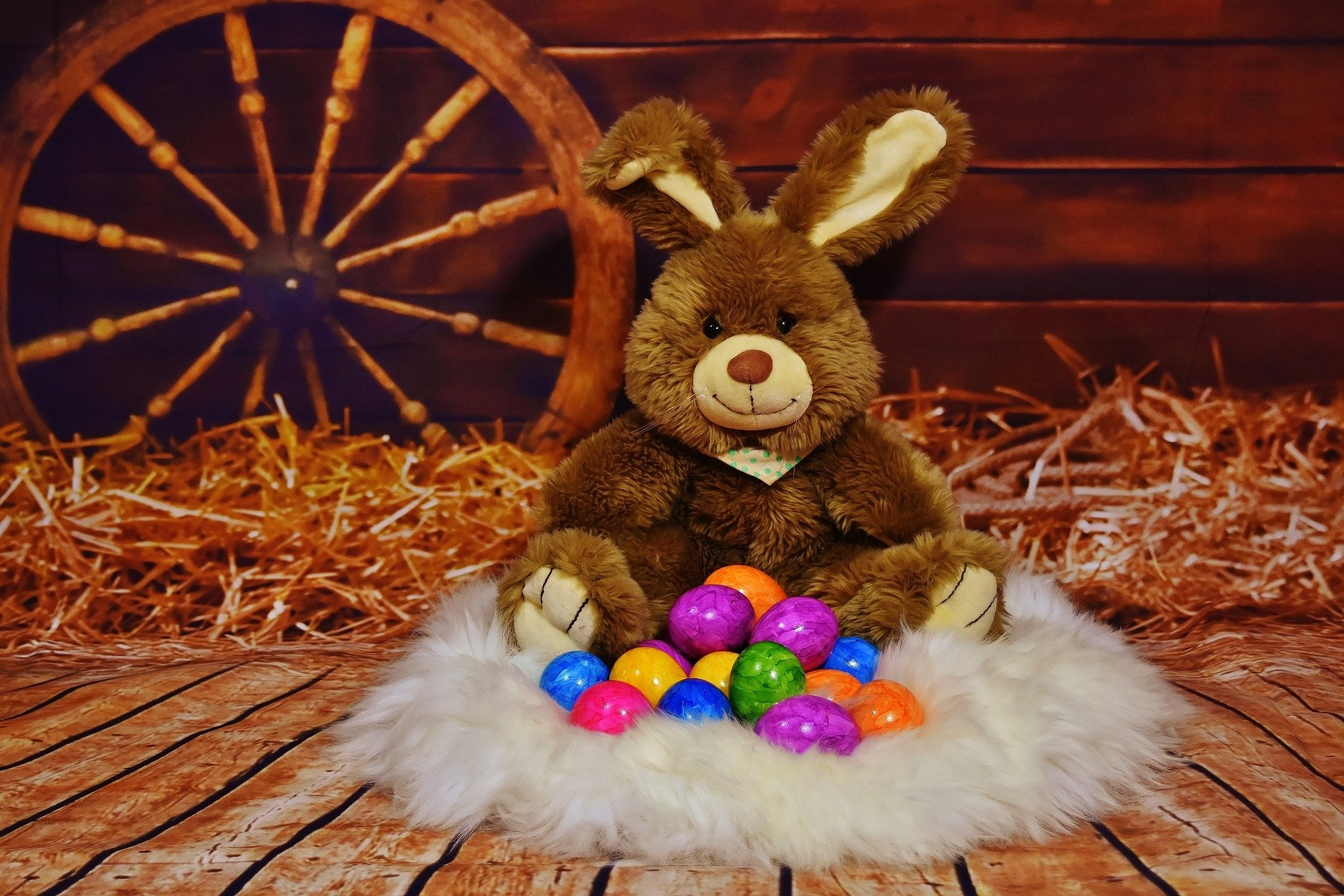 Holiday - Easter  Holiday Stuffed Animal Bunny Rabbit Still Life Easter Egg Wallpaper