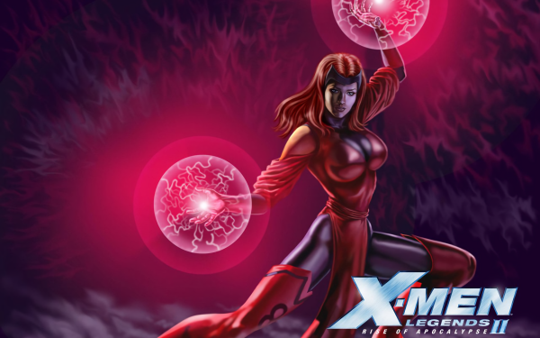 Video Game X-Men Legends II: Rise of Apocalypse X-Men Scarlet Witch HD Wallpaper | Background Image
