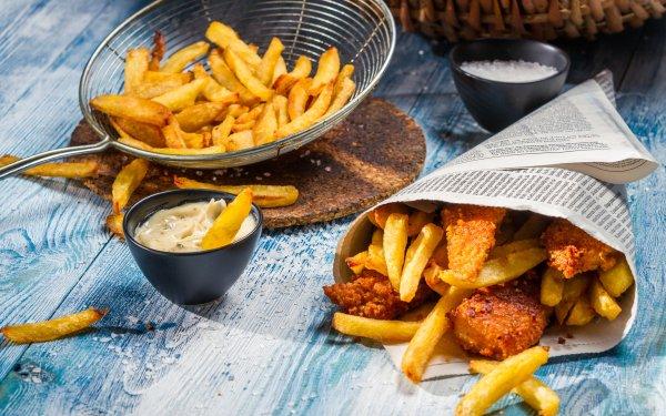 Alimento Bodegón French Fries Sauce Fondo de pantalla HD | Fondo de Escritorio