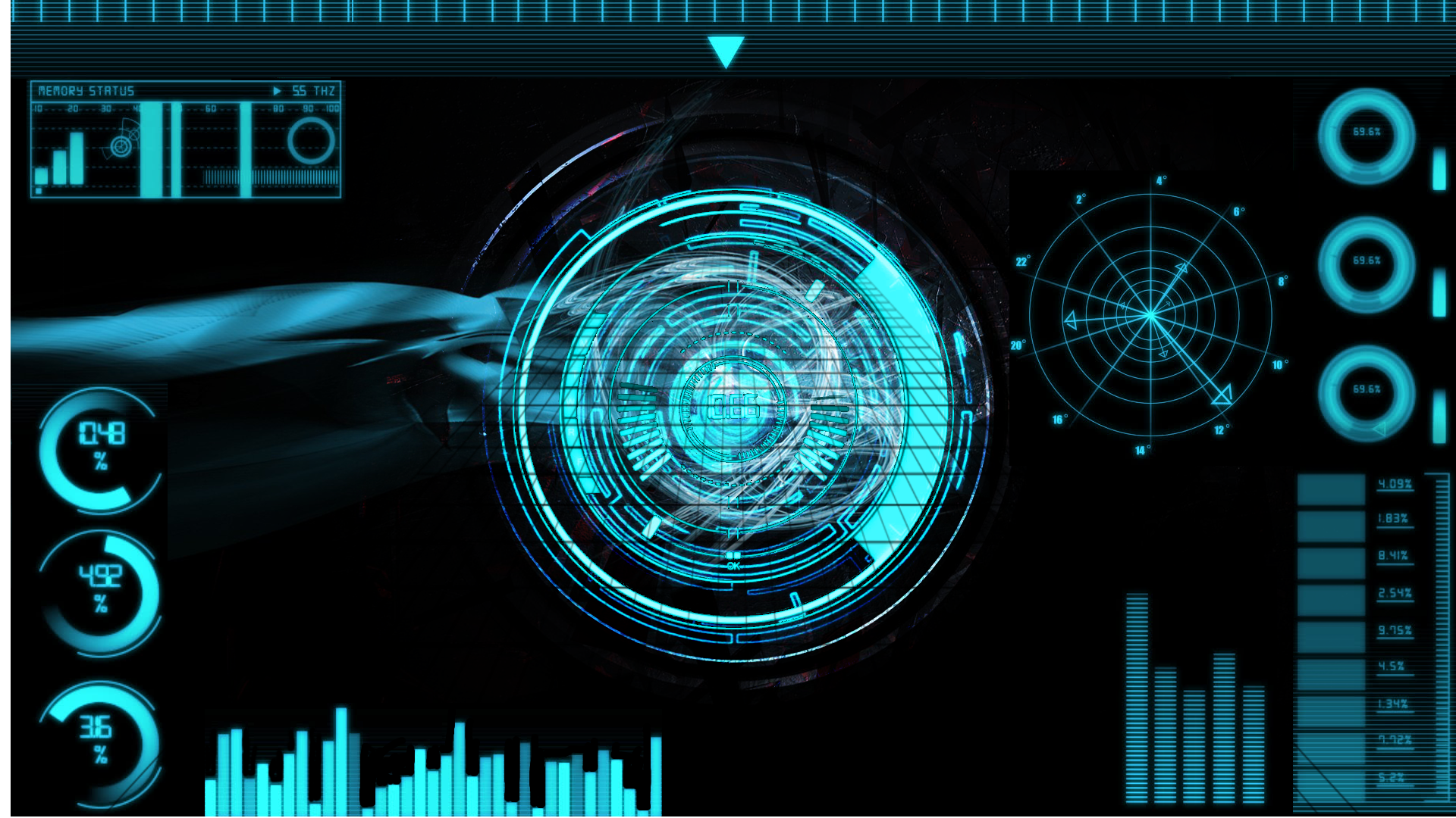 Futuristic Hud Full HD Wallpaper and Background Image ...