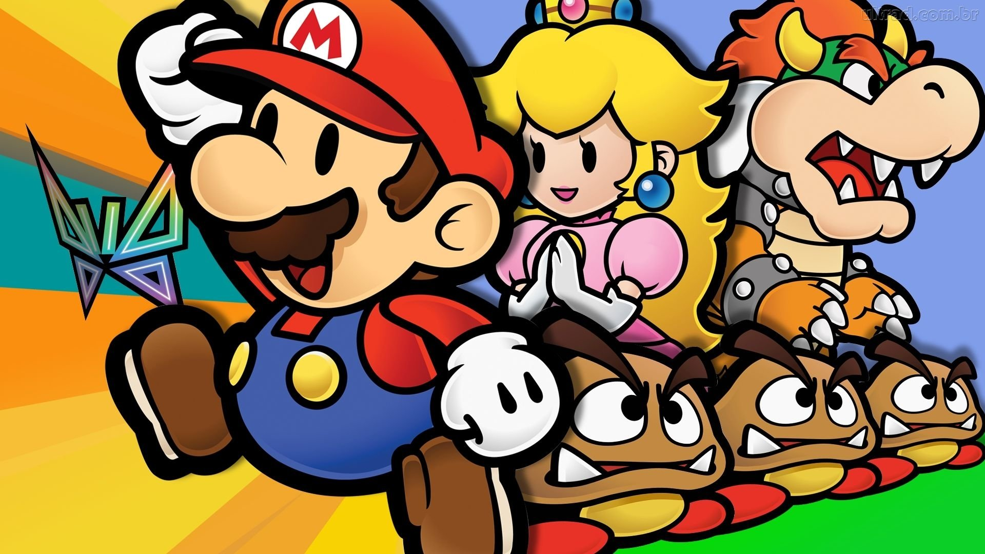 Video Game - Paper Mario: The Thousand-Year Door  Princess Peach Bowser Goomba Wallpaper