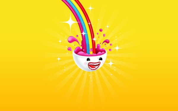 Humor Funny Colorful Rainbow Brain HD Wallpaper   Background Image