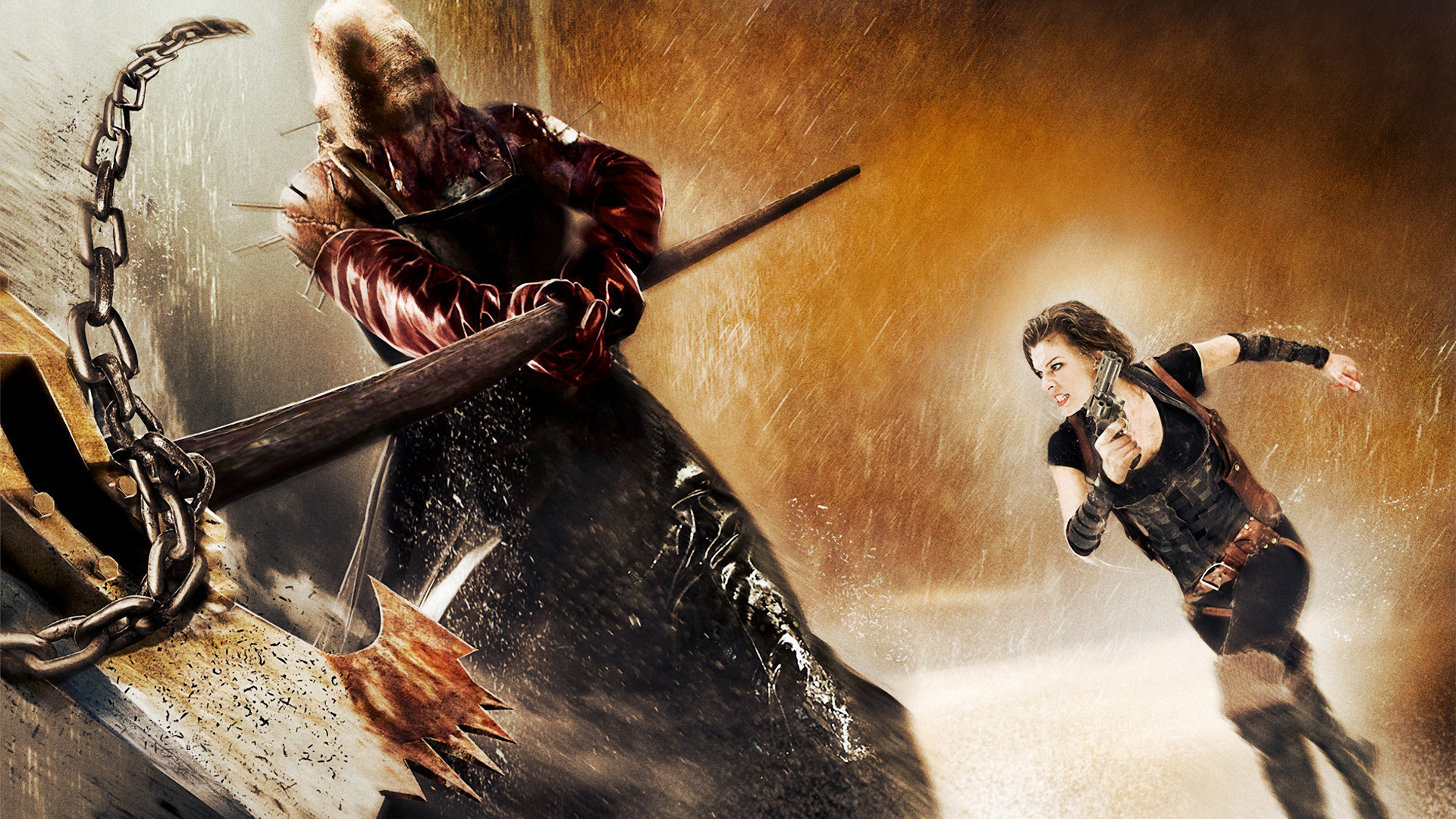 Resident Evil Afterlife Alice And Axeman Executioner Majini Hd