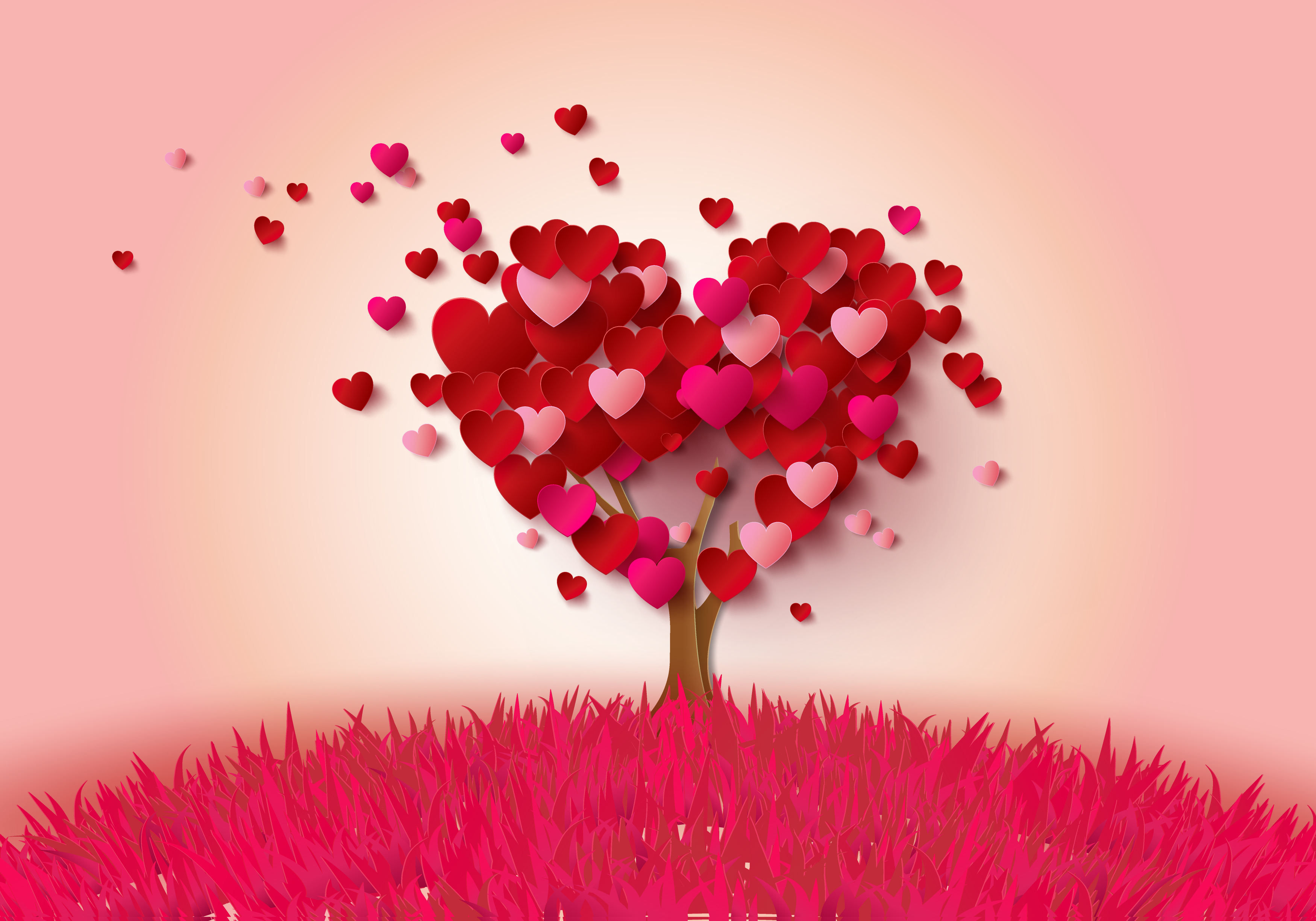 Heart Tree Full Hd Wallpaper And Background Image 3500x2450 Id