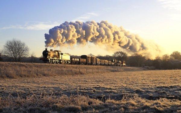 Vehicles Train Smoke Locomotive Steam Train HD Wallpaper | Background Image