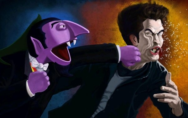 Humor Mocking Sesame Street Edward Cullen Punch HD Wallpaper | Background Image