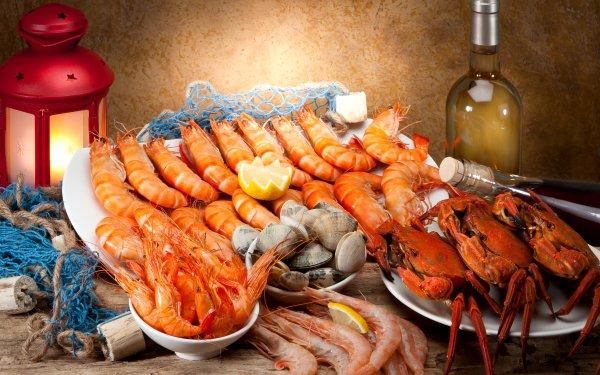 Food Seafood Shrimp Lobster Crab Lantern HD Wallpaper | Background Image