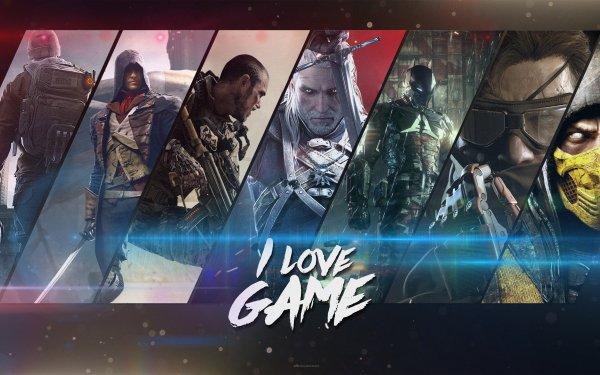 Videojuego Collage The Witcher Mortal Kombat Metal Gear Solid Batman: Arkham Knight Call of Duty: Advanced Warfare Assassin's Creed: Unity Fondo de pantalla HD | Fondo de Escritorio