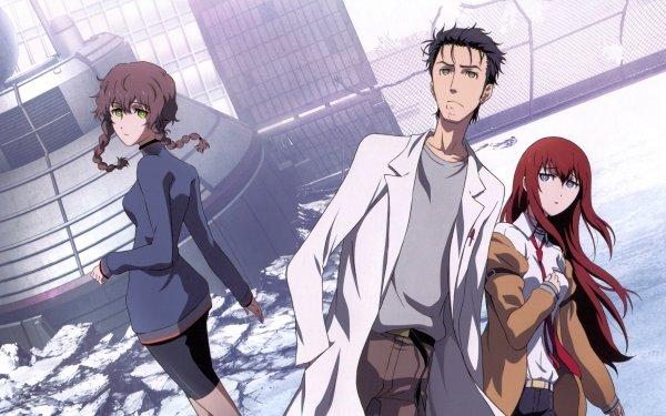 Anime Steins;Gate Kurisu Makise Rintaro Okabe Suzuha Amane HD Wallpaper | Background Image