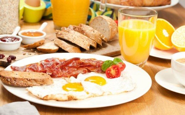 Food Breakfast Egg Juice Still Life Bacon Bread HD Wallpaper   Background Image