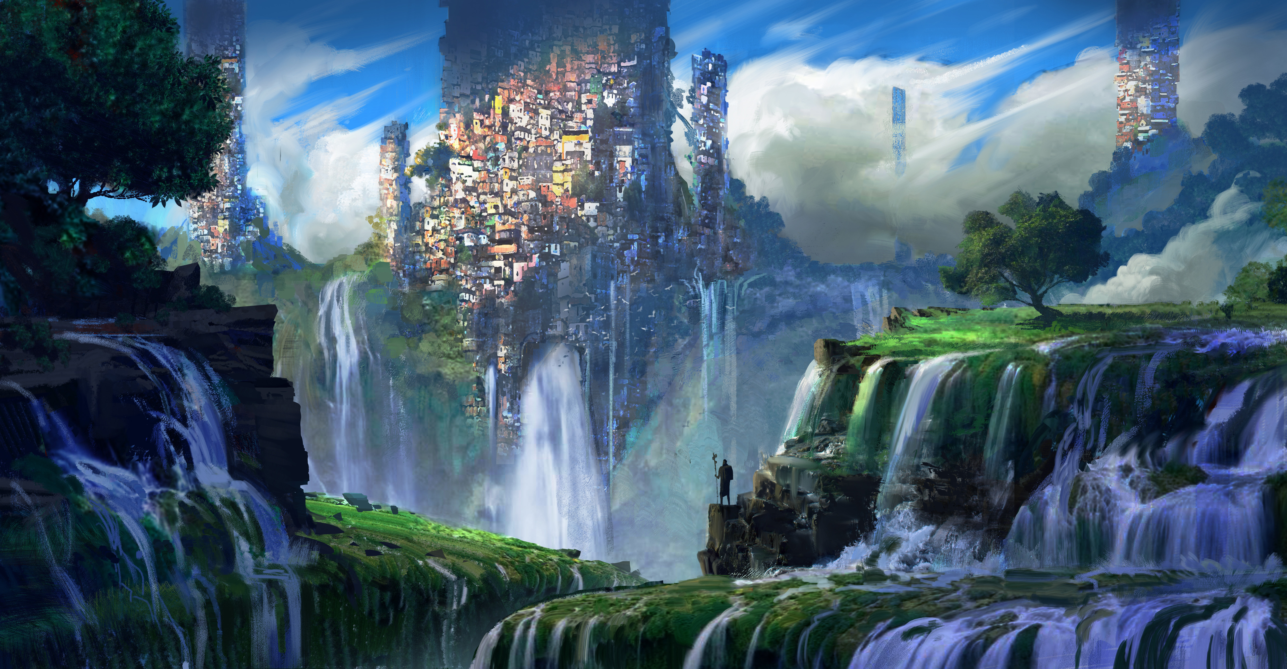 Fantasy Landscape 4k Ultra Hd Wallpaper Background Image 5000x2600 Id 814650 Wallpaper Abyss
