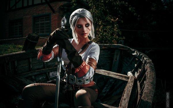 Women Cosplay The Witcher 3: Wild Hunt Ciri HD Wallpaper   Background Image
