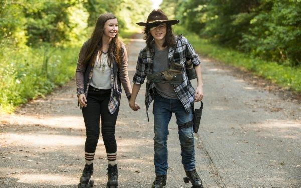 TV Show The Walking Dead Carl Grimes Chandler Riggs Katelyn Nacon Enid HD Wallpaper | Background Image
