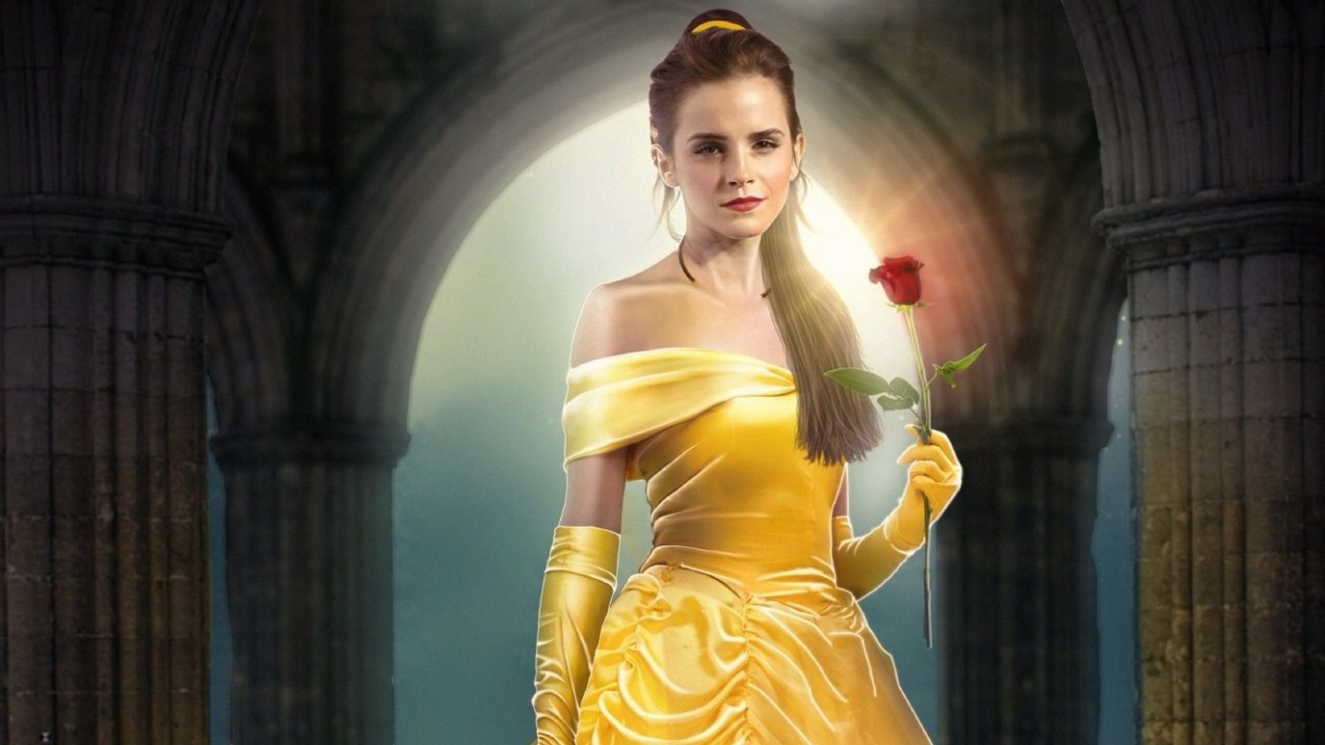 Emma Watson As Belle In Beauty And The Beast 2017 Fondo