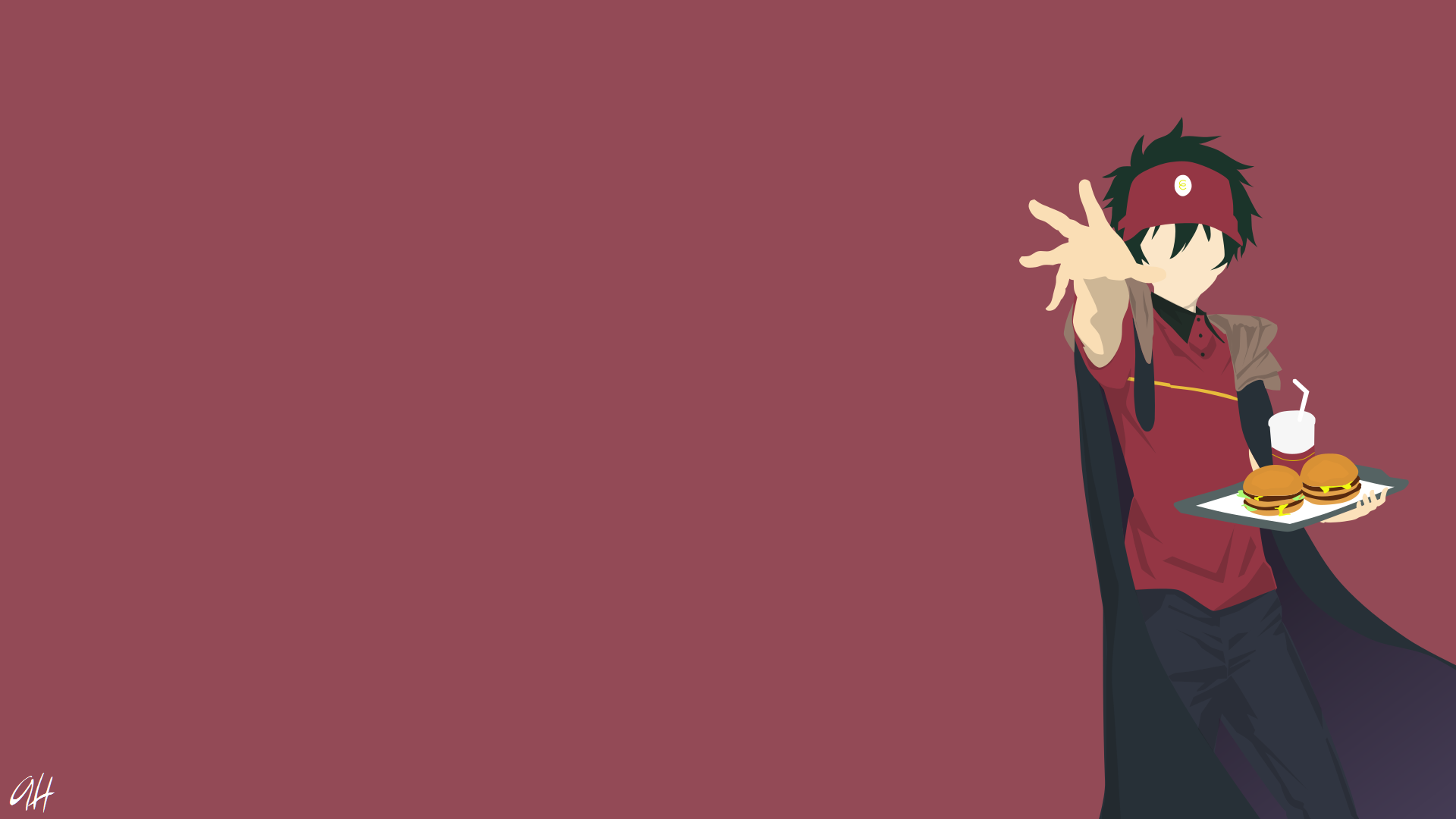 Maou Sadao From The Devil Is A Part Timer Hd Wallpaper