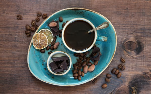 Food Coffee Still Life Chocolate Coffee Beans Cup HD Wallpaper   Background Image