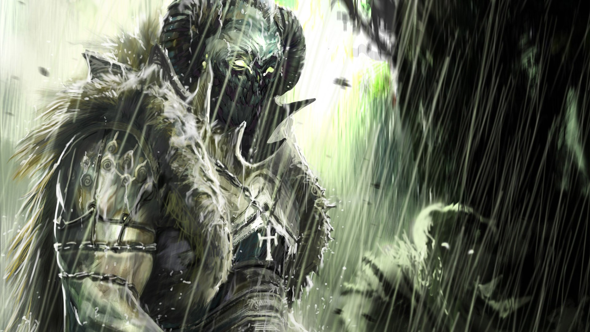 Fantasy - Demon  Magic Warrior Wallpaper