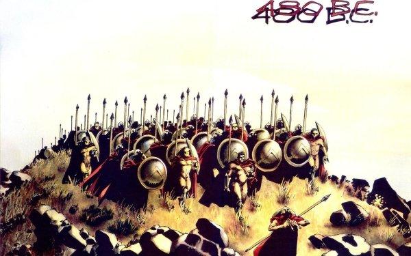 Bande-dessinées 300 Spartan Fond d'écran HD | Arrière-Plan