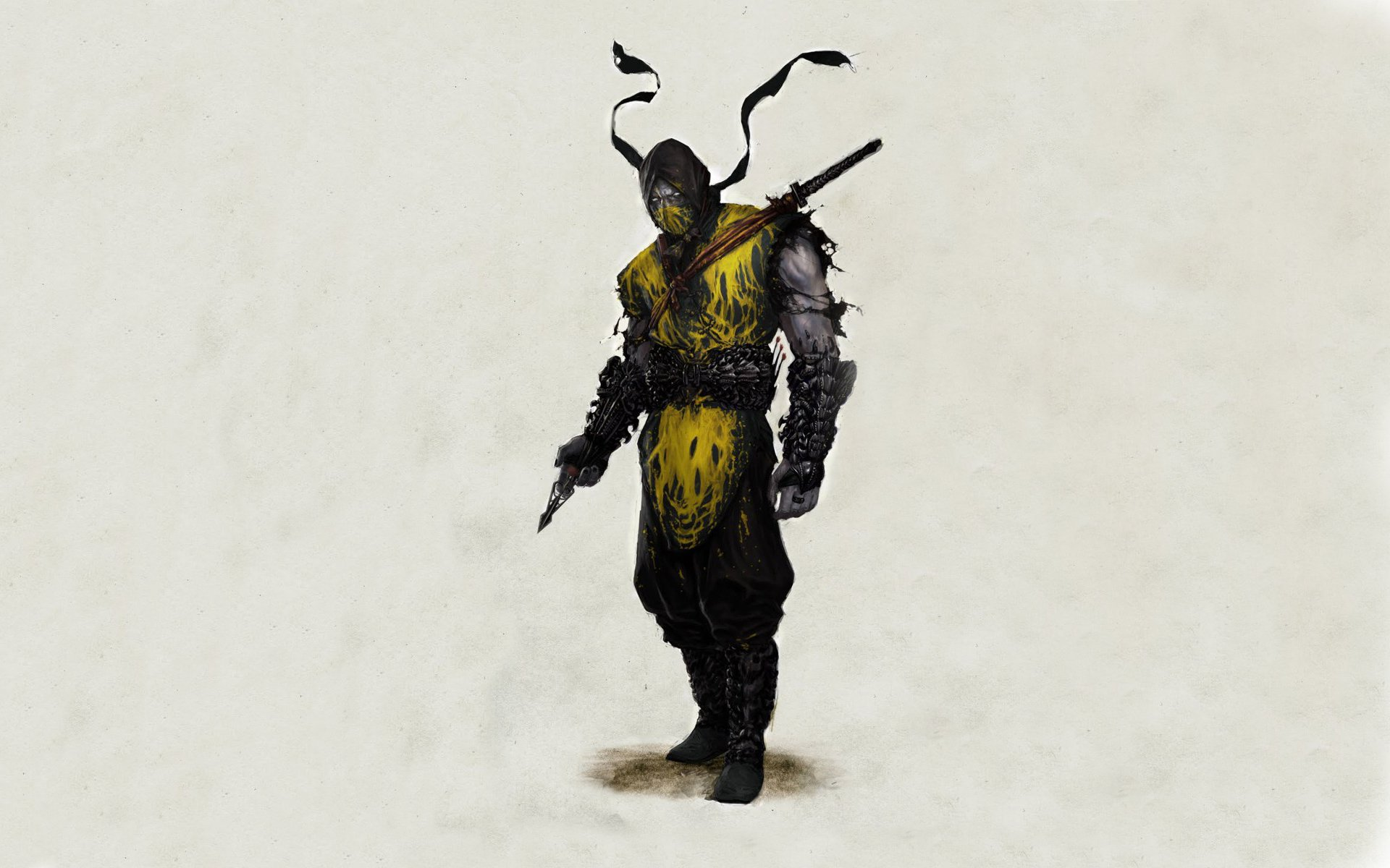 Video Game - Mortal Kombat  Warrior Scorpion (Mortal Kombat) Wallpaper