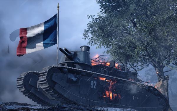 Video Game Battlefield 1 Battlefield Tank French Flag HD Wallpaper | Background Image