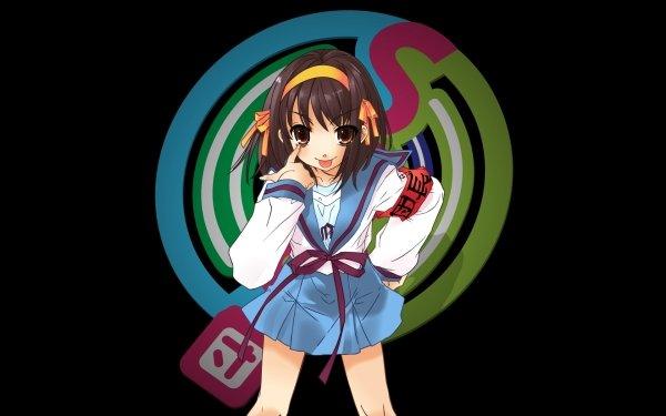 Anime Suzumiya Haruhi no Yūutsu Haruhi Suzumiya Fondo de pantalla HD | Fondo de Escritorio