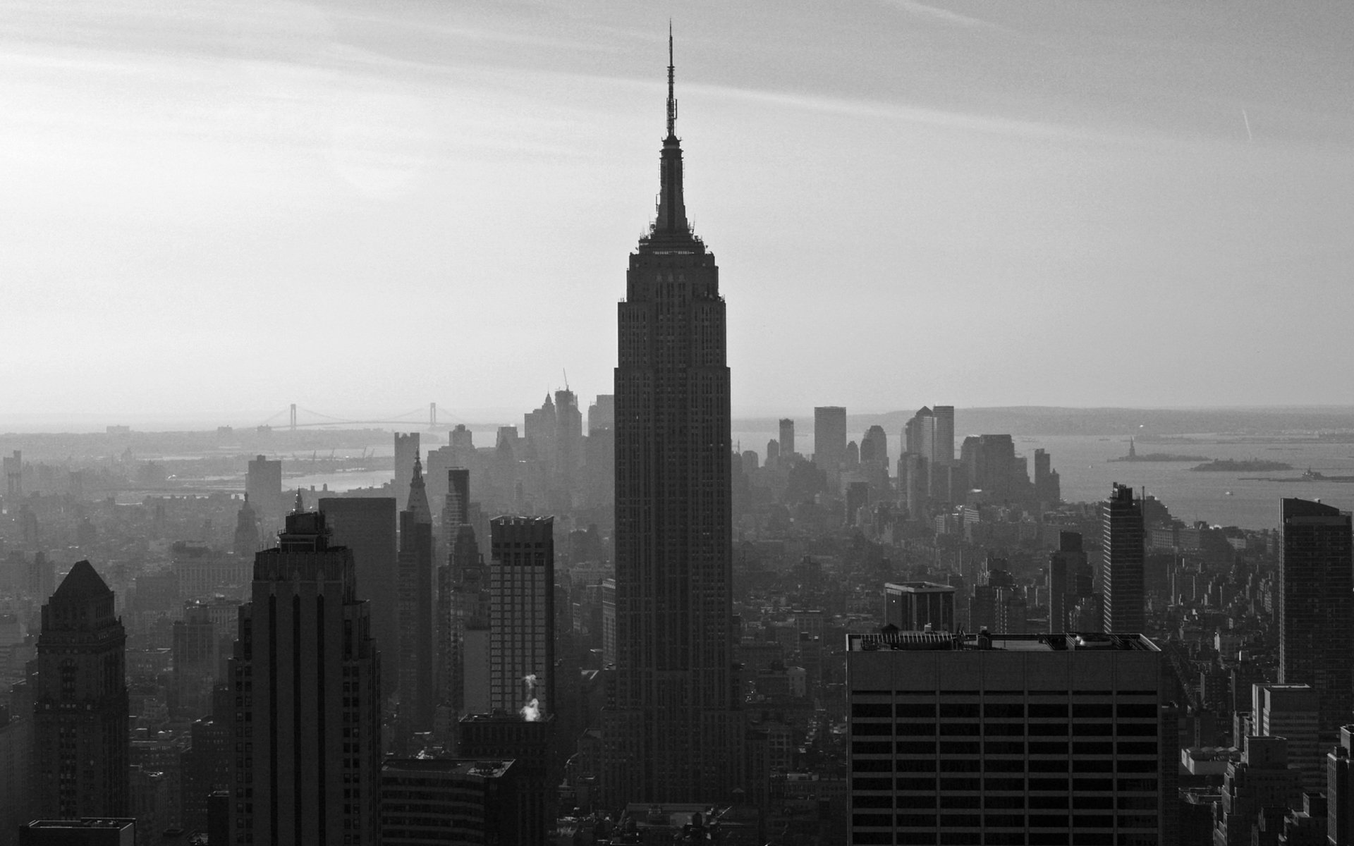 Man Made - New York  Building Photography Black & White City Empire State Building Wallpaper