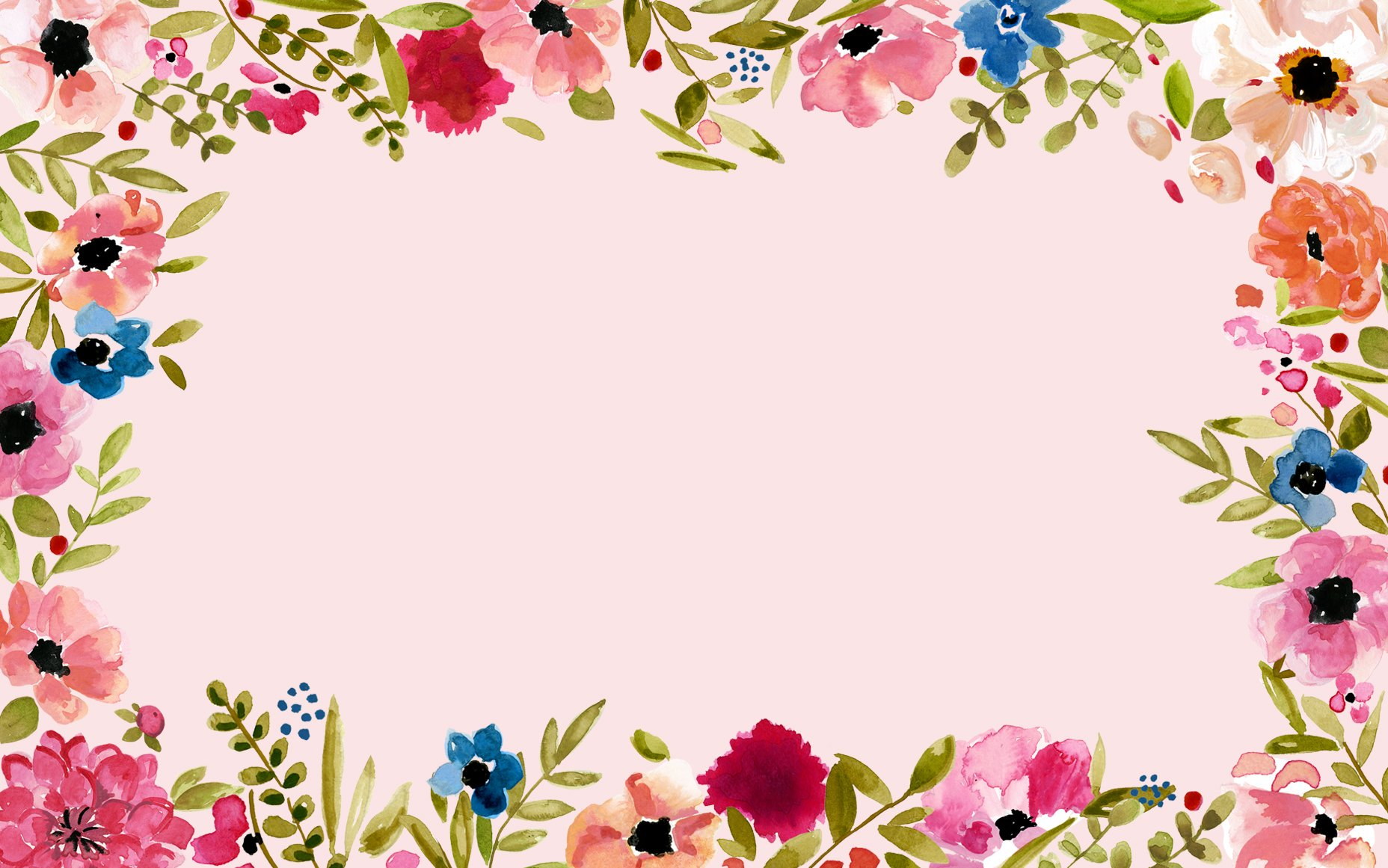 Floral Border Wallpaper And Background Image