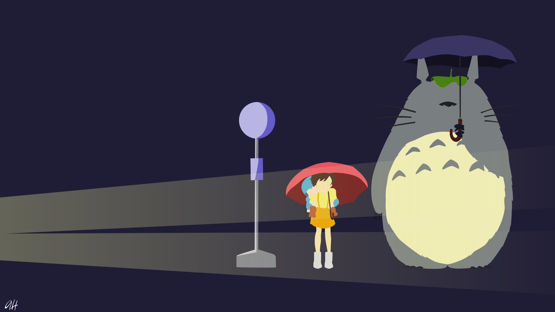 Movie - My Neighbor Totoro  Anime Minimalist Wallpaper