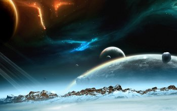 Научная фантастика - Planet Rise Wallpapers and Backgrounds ID : 82372