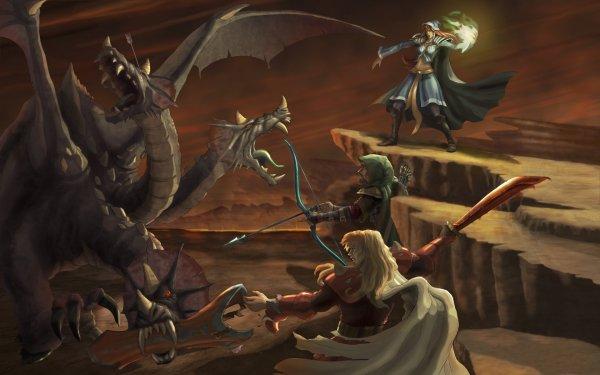 Video Game Runescape Dragon Warrior HD Wallpaper | Background Image
