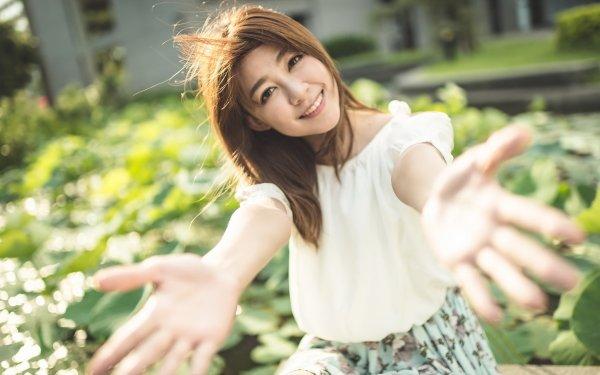 Women Asian Model Brunei Depth Of Field Smile HD Wallpaper   Background Image