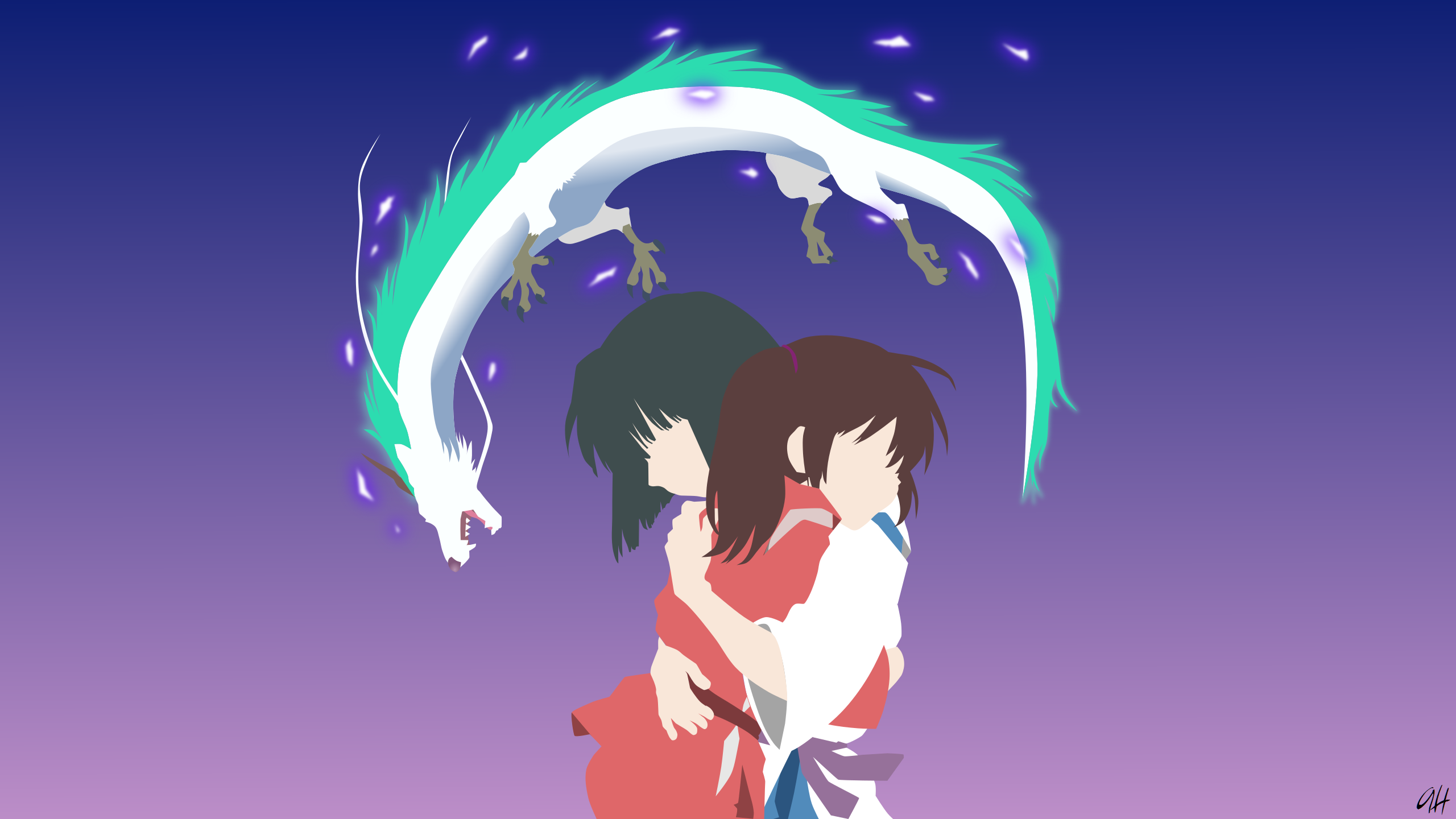 Spirited Away Minimalist Full HD Wallpaper And Background