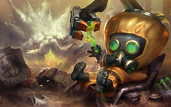 Video Game League Of Legends Heimerdinger Gas Mask HD Wallpaper | Background Image